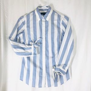 NWOT Banana Republic Striped button down shirt
